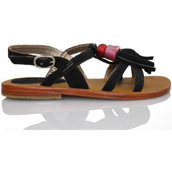Sapatos Rapariga Sandálias Oca Loca OCA LOCA FLECOS NEGRO NEGRO