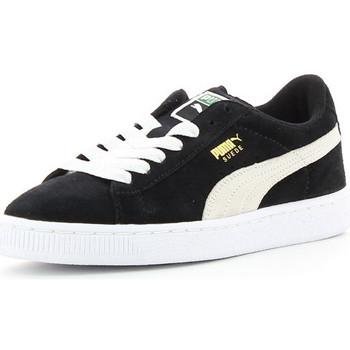 Sapatos Criança Sapatilhas Puma SUEDE JR Noir/Blanc