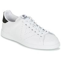Sapatos Mulher Sapatilhas Victoria DEPORTIVO BASKET PIEL Branco / Preto
