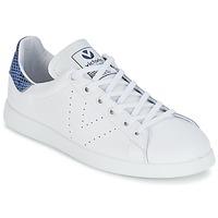 Sapatos Sapatilhas Victoria DEPORTIVO BASKET PIEL Branco / Azul
