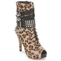 Sapatos Mulher Botins Abbey Dawn PLATFORM BOOTEE Leopardo