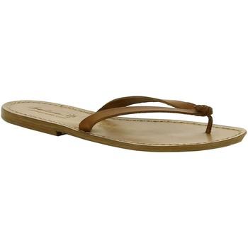 Sapatos Mulher Chinelos Gianluca - L'artigiano Del Cuoio 540 D CUOIO CUOIO Cuoio