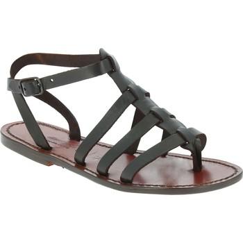 Sapatos Homem Sandálias Gianluca - L'artigiano Del Cuoio 505 D MORO CUOIO Testa di Moro