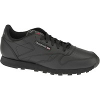 Sapatos Rapaz Sapatilhas Reebok Sport Classic Leather Noir