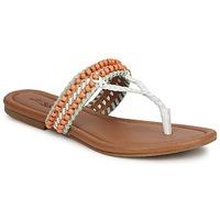 Sapatos Mulher Sandálias Lucky Brand DOLLIS Cru / Branco / Black/indian magenta