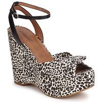 Sapatos Mulher Sandálias Lucky Brand VIERA Preto / Branco
