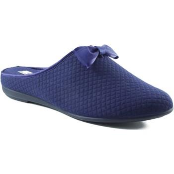 Sapatos Mulher Chinelos Vulladi CUADRADITO COMODA Y VERSATIL AZUL