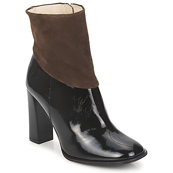 Sapatos Mulher Botins Paco Gil MERLOUNI Preto / Castanho