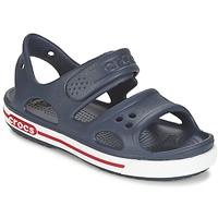 Sapatos Rapaz Sandálias Crocs CROCBAND II SANDAL PS Marinho / Branco