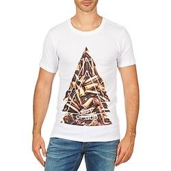 Textil Homem T-Shirt mangas curtas Eleven Paris CITYGOD M MEN Branco