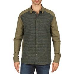 Textil Homem Camisas mangas comprida Eleven Paris VRAPP MEN Cáqui