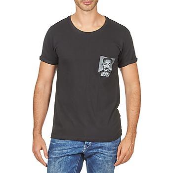 Textil Homem T-Shirt mangas curtas Eleven Paris WOLYPOCK MEN Preto