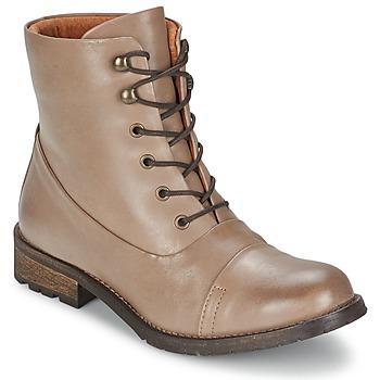 Sapatos Mulher Botas baixas Pieces SENIDA LEATHER BOOT Toupeira
