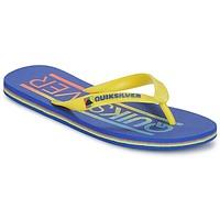 Sapatos Homem Chinelos Quiksilver MOLOKAI WORDMARK Azul / Amarelo