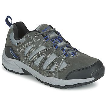 Sapatos Homem Sapatos de caminhada Hi-Tec ALTO II LOW WP Carvão / Azul