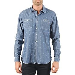 Textil Homem Camisas mangas comprida Barbour LAWSON Azul