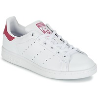 Sapatos Rapariga Sapatilhas adidas Originals STAN SMITH J Branco / Rosa