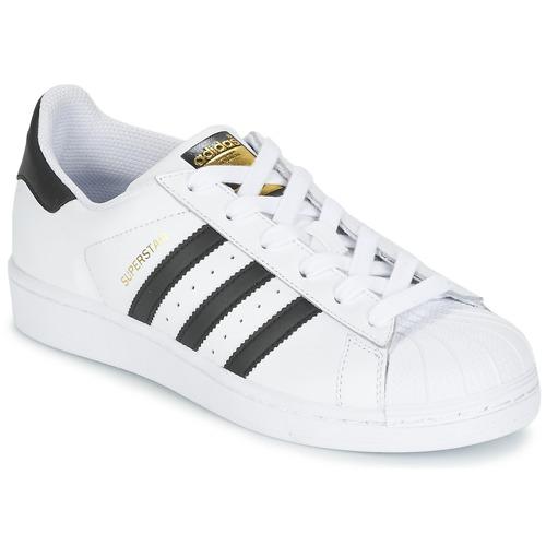 Sapatos Criança Sapatilhas adidas Originals SUPERSTAR Branco / Preto