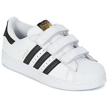 Sapatos Criança Sapatilhas adidas Originals SUPERSTAR FOUNDATIO Branco / Preto