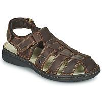 Sapatos Homem Sandálias TBS BARROW Castanho
