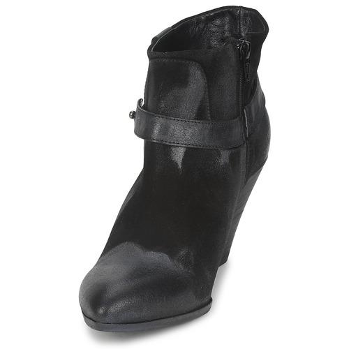 Strategia Sangla Preto / Prateado - Entrega Gratuita Sapatos Botas Baixas Mulher 14920