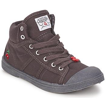 Sapatos Criança Sapatilhas de cano-alto Le Temps des Cerises BASIC-03 KIDS Castanho