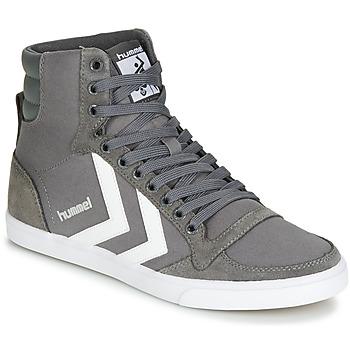 Sapatos Sapatilhas de cano-alto Hummel TEN STAR HIGH Cinza / Branco