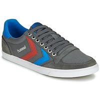 Sapatos Homem Sapatilhas Hummel TEN STAR LOW CANVAS Cinza / Azul / Vermelho
