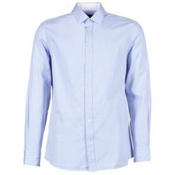Textil Homem Camisas mangas comprida Hackett SQUARE TEXT MUTLI Azul
