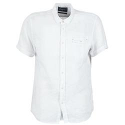 Textil Homem Camisas mangas curtas Chevignon C-LINEN Branco