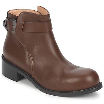 Sapatos Mulher Botas baixas Kallisté 5723 Castanho
