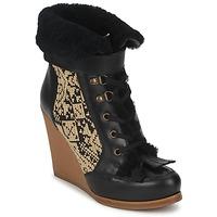 Sapatos Mulher Botins Etro DENISE Preto / Bege