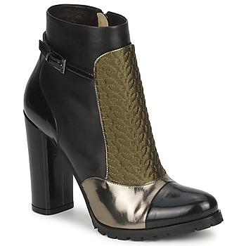 Sapatos Mulher Botins Etro FEDRA Preto / Cáqui / Prateado