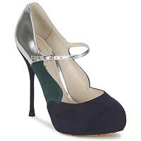 Sapatos Mulher Escarpim John Galliano AO2179 Preto / Cinza