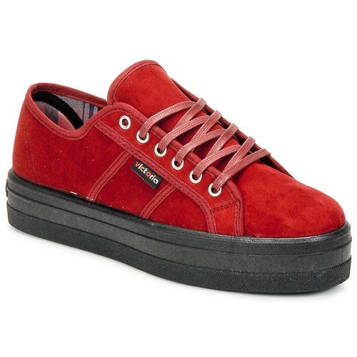 Sapatos Mulher Sapatilhas Victoria 9205 Bordô