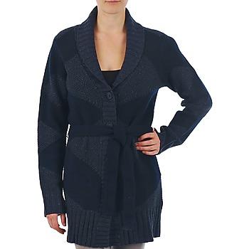 Textil Mulher Casacos de malha Gant N.Y. DIAMOND SHAWL COLLAR CARDIGAN Marinho