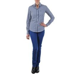 Textil Mulher Calças Jeans Gant N.Y. KATE COLORFUL TWILL PANT Azul
