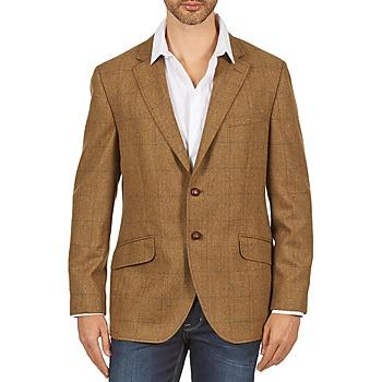Textil Homem Casacos/Blazers Hackett TWEED WPANE Castanho