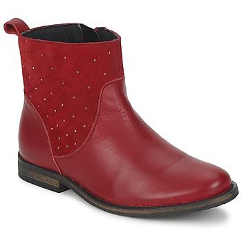 Sapatos Rapariga Botas baixas Citrouille et Compagnie BELFINE Vermelho