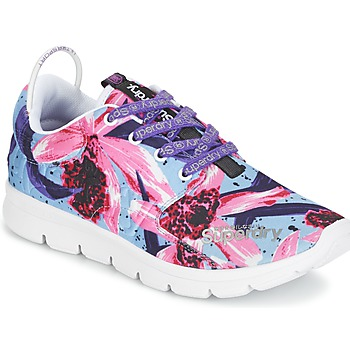 Sapatos Mulher Sapatilhas Superdry SUPERDRY SCUBA RUNNER Rosa / Azul