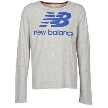 Textil Homem T-shirt mangas compridas New Balance NBSS1403 LONG SLEEVE TEE Cinza