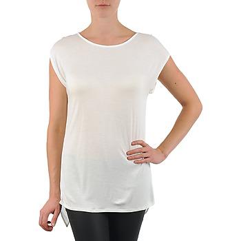 Textil Mulher T-Shirt mangas curtas La City TS CROIS D6 Branco