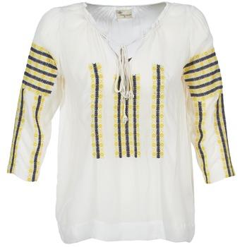 Textil Mulher Tops / Blusas Stella Forest ATU025 Branco / Cinza / Amarelo