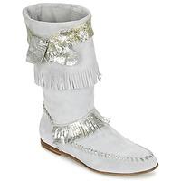 Sapatos Mulher Botas Now MATELI Cinza / Prateado