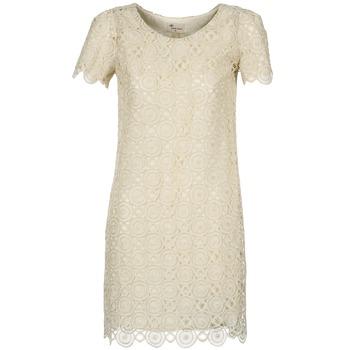 Textil Mulher Vestidos curtos Stella Forest ARO051 Cru / Dourado