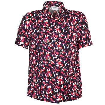 Textil Mulher Camisas mangas curtas American Retro NEOSHIRT Preto / Rosa / Laranja