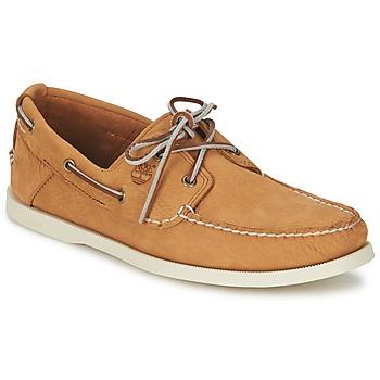 Sapatos Homem Sapato de vela Timberland EK HERITAGE BOAT 2 EYE Bege