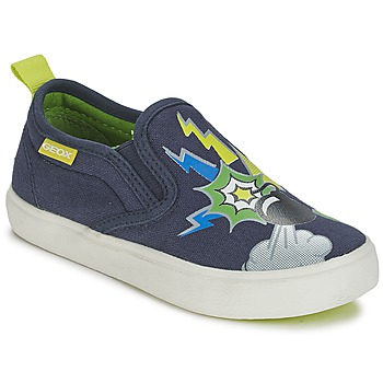 Sapatos Rapaz Slip on Geox KIWI B. D Azul / Verde