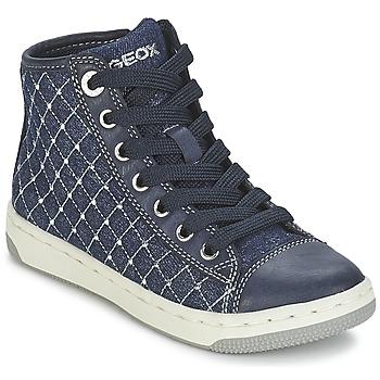 Sapatos Rapariga Sapatilhas de cano-alto Geox CREAMY B Marinho