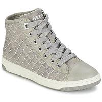 Sapatos Rapariga Sapatilhas de cano-alto Geox CREAMY B Cinza